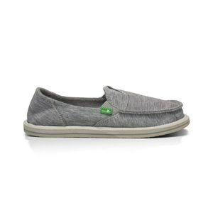 Sanuk Women's Gray Sidewalk Surfer Slip-On Shoes